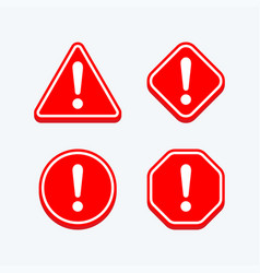 Hazard warning sign with exclamation mark symbol vector