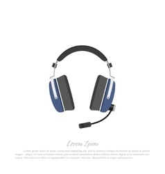 Headphones civil aircraft pilot vector image