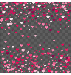 Heart confetti beautifully fall on the background vector