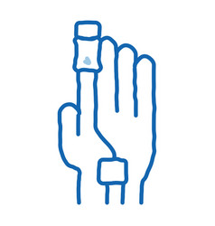 Heart rate measurement tool on patient finger vector
