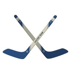 Hockey sticks icon vector