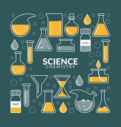 Icons on a theme science vector