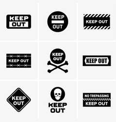 Keep out signs vector