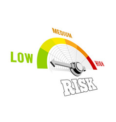 Low risk speedometer 3d on vector