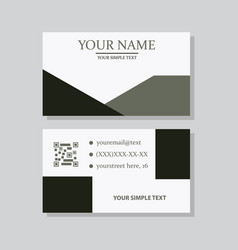 Modern simple light business card template with vector