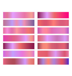 neon holographic pink gradient banners templates vector image