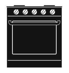 new oven icon simple style vector image