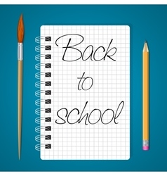 Notebook back to school vector image