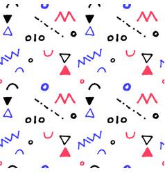 nursery geometric seamless pattern in vector image