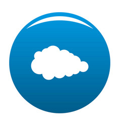 Overcast icon blue vector