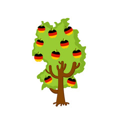 patriotic apple tree germany map apples german vector image