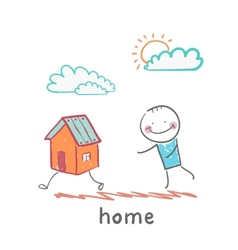 People catching home vector
