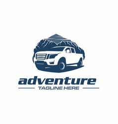 pickup adventure logo vector image