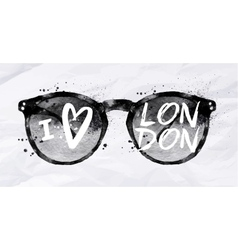 Poster sunglasses London vector