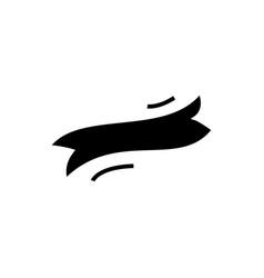 ribbon label flag icon black vector image vector image