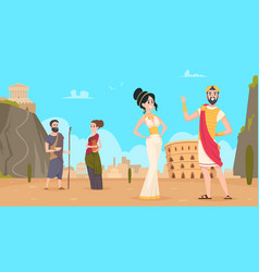 Rome background traditional historical landscape vector