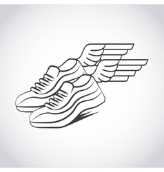 Runner shoes design vector