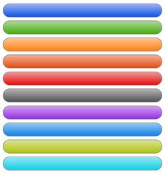 Set of banner button plaque backgrounds 10 colors vector