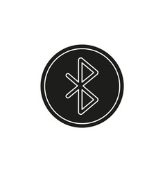 simple bluetooth icon vector image