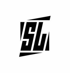 Sl logo monogram with modern style concept design vector