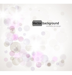 Soft White Background with Purple Circles vector image