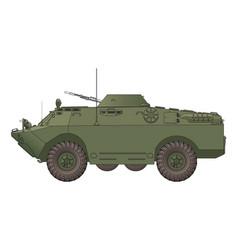 Soviet armored reconnaissance vehicle vector