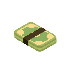 Stacked money online shopping isometric icon vector