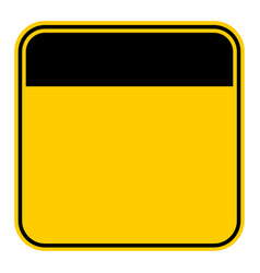 sticker empty safety sign vector image