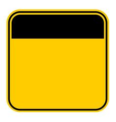 Sticker empty safety sign vector