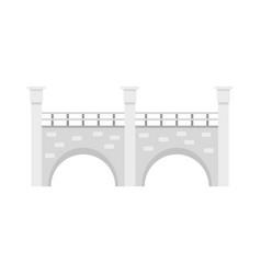 Stone bridge icon flat style vector