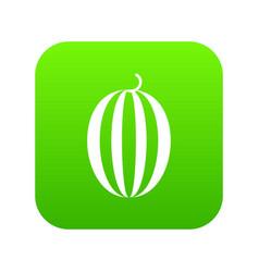 Striped melon icon digital green vector