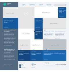 Template website built on 16 column grid metro vector