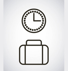 Time clock watch icon vector