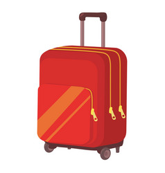 travel suitcase icon cartoon style vector image vector image