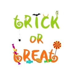 Trick or treat decorative halloween text vector