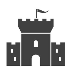 watchtower black icon ancient historic fortress vector image