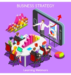 Webinars 03 business isometric vector