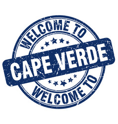 Welcome to cape verde vector