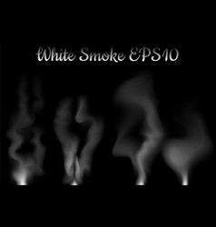 white smoke on black vector image