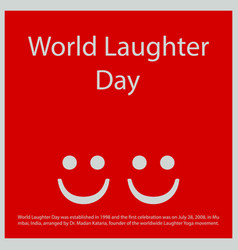 World laughter day vector