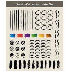 brush blot vector image vector image