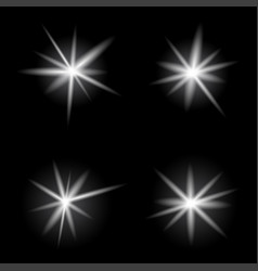 burst light bright on dark background vector image