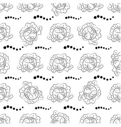 cabbage pattern coloring black outline vector image vector image