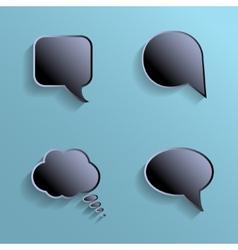Chat bubbles - paper cut design Black color on vector image
