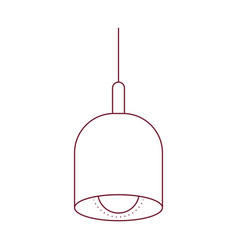 dark red line contour of pendant lamp vector image vector image