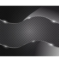 glass frame on metal background vector image vector image