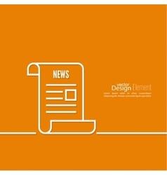 Icon newspaper vector image