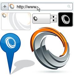 Original curl design element vector image
