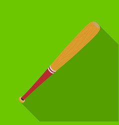 baseball bat baseball single icon in flat style vector image vector image