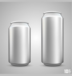 large and small beer can vector image vector image